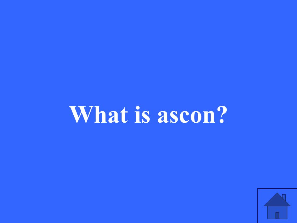 What is ascon?