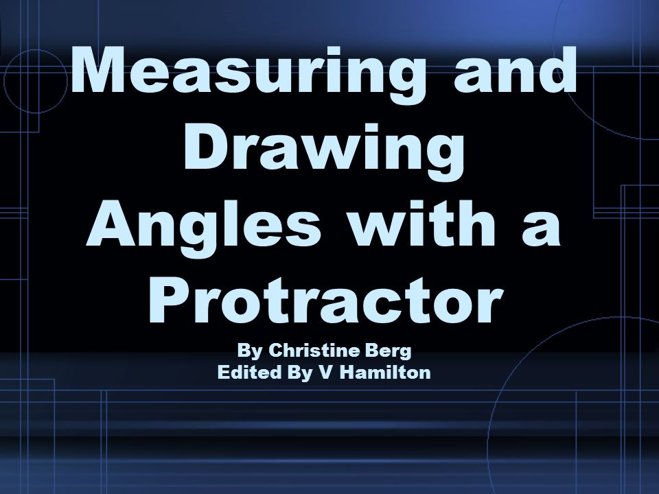Step 3: Place a dot at the angle measure required