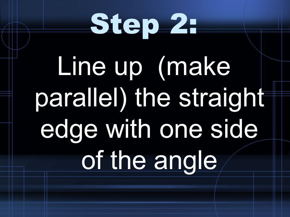 Step 3: Find the point where the second side of the angle intersects with the curved edge