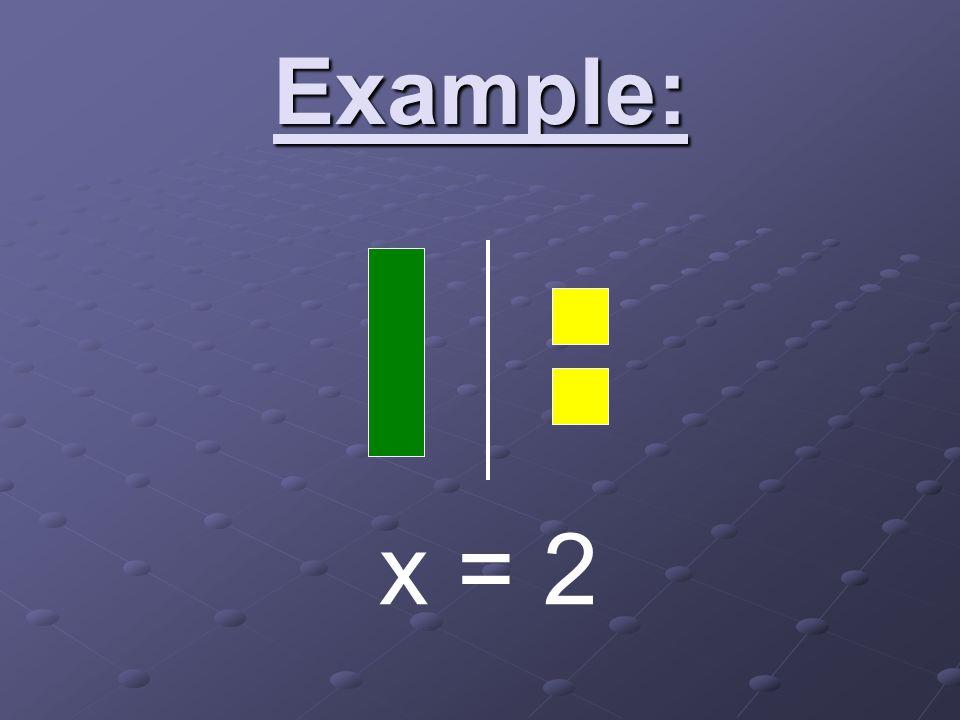 Example: x = 2
