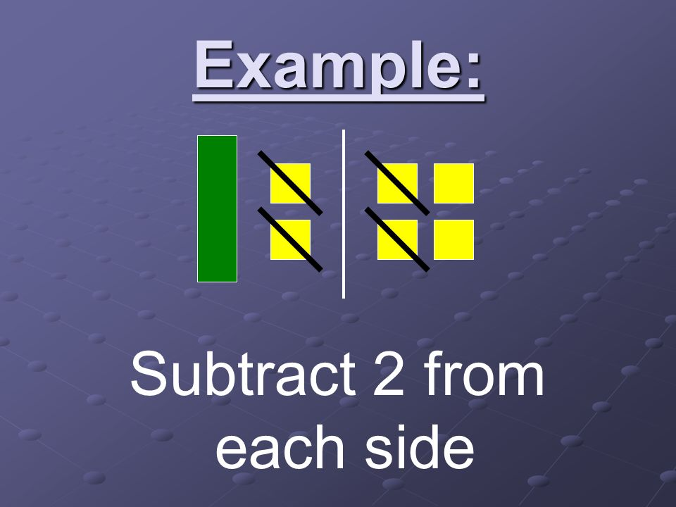 Example: Subtract 2 from each side