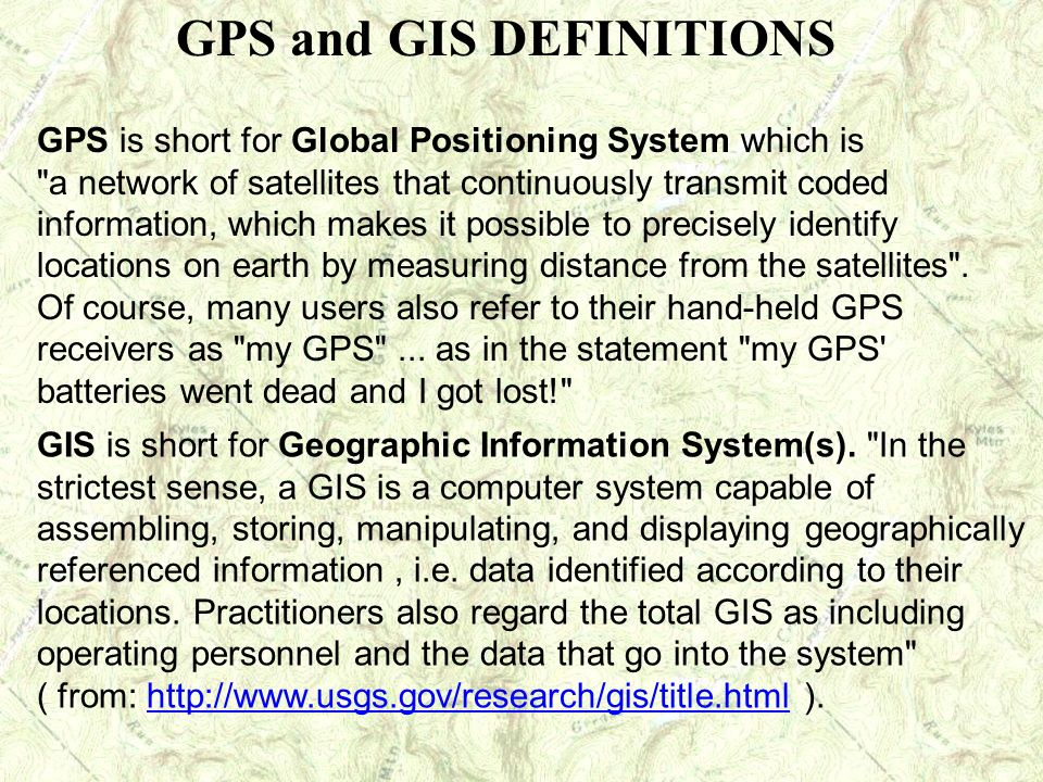 GPS is short for Global Positioning System which is
