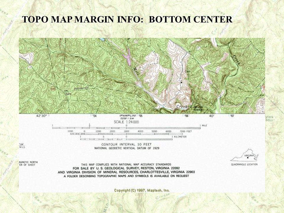 TOPO MAP MARGIN INFO: BOTTOM CENTER