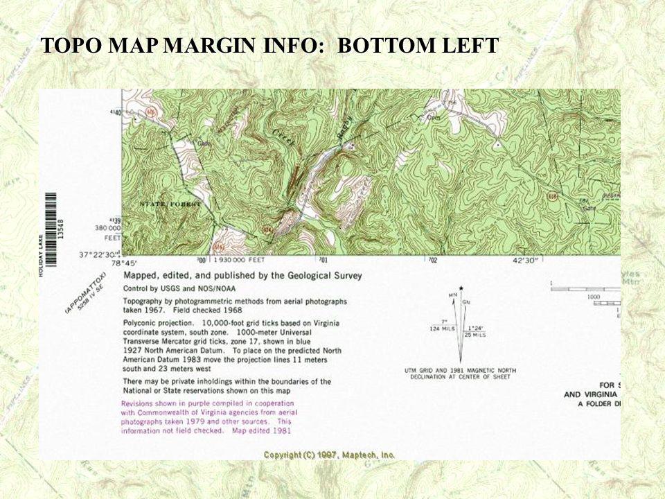 TOPO MAP MARGIN INFO: BOTTOM LEFT