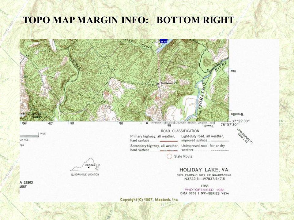 TOPO MAP MARGIN INFO: BOTTOM RIGHT