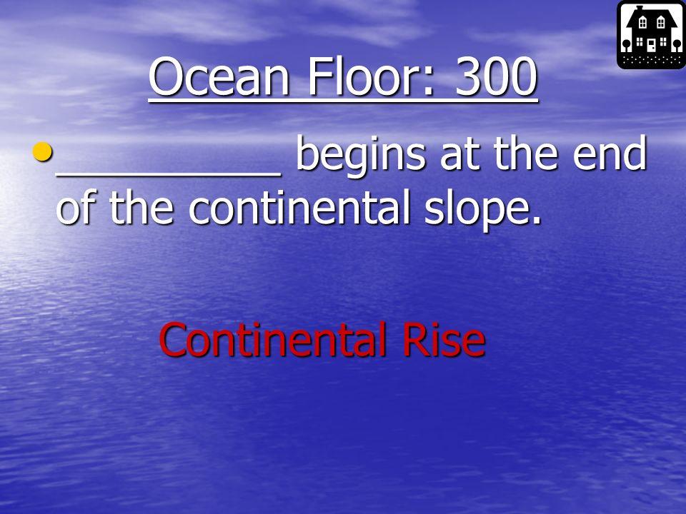 Ocean Floor: 200 This type of volcano wont be erupting soon.