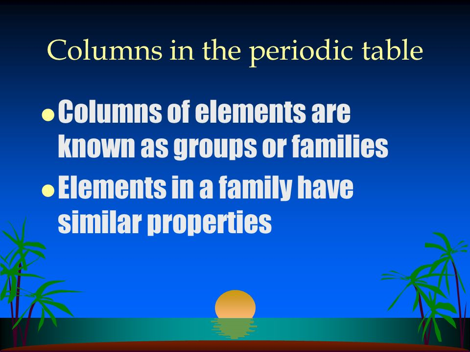 Questions l What is the major difference between Mendeleevs periodic table and the modern periodic table?