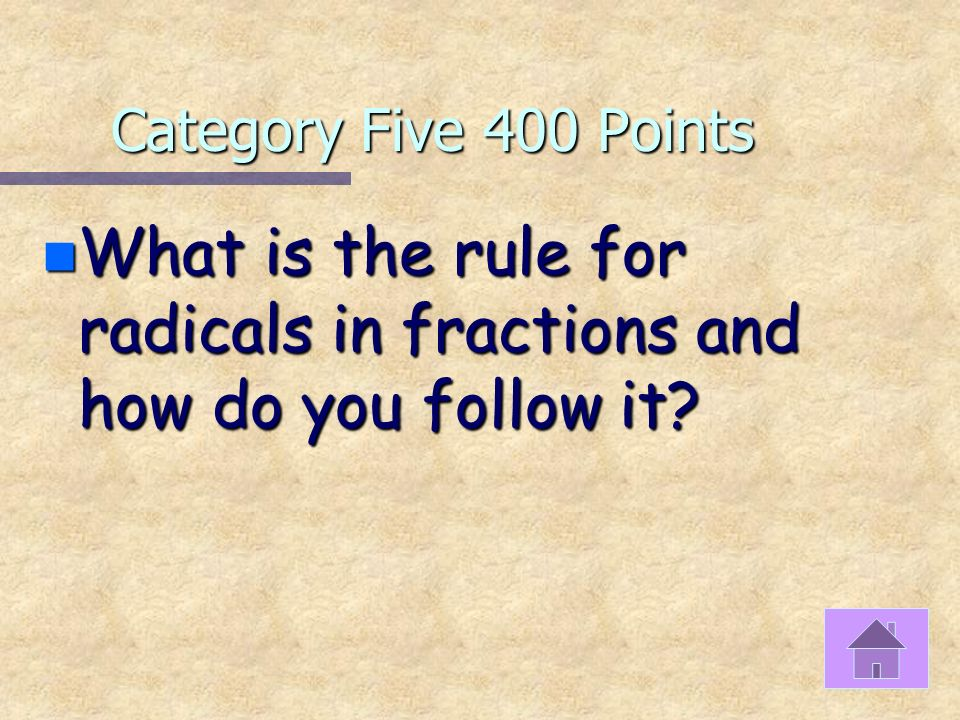 Category Five 300 Points n Triangles have three angles whose sum must total what amount?