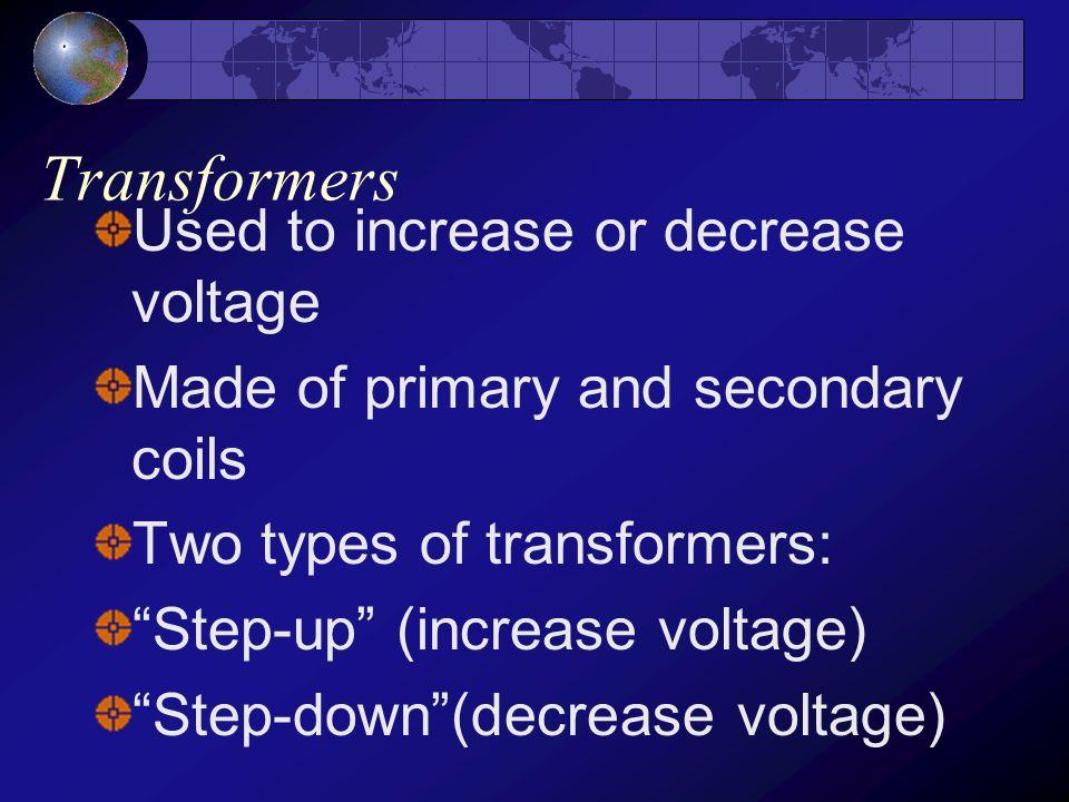 Electric motors vs. generators Electric motors convert electricity to mechanical energy in order to do work Generators convert mechanical energy to el