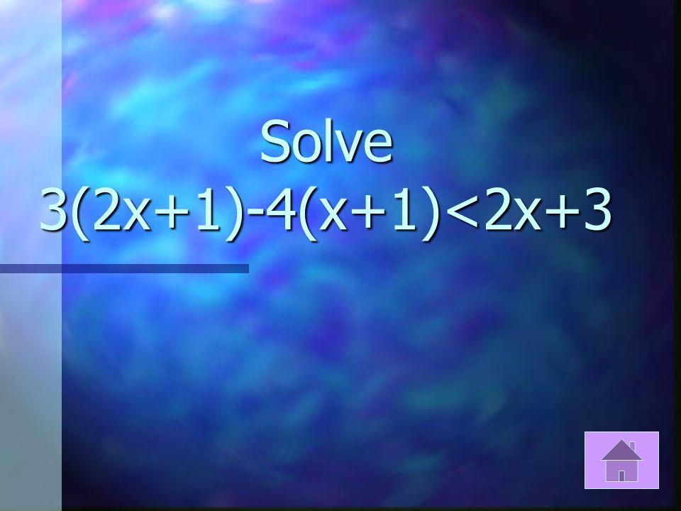 Solve 3(x-3)+3>2(x-6)+3x