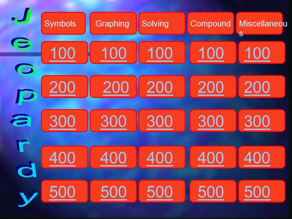SymbolsGraphingSolvingCompoundMiscellaneou s 100 200 300 400 500 100 200 300 400 500 100 200 300 400 500 100 200 300 400 500 100 200 300 400 500