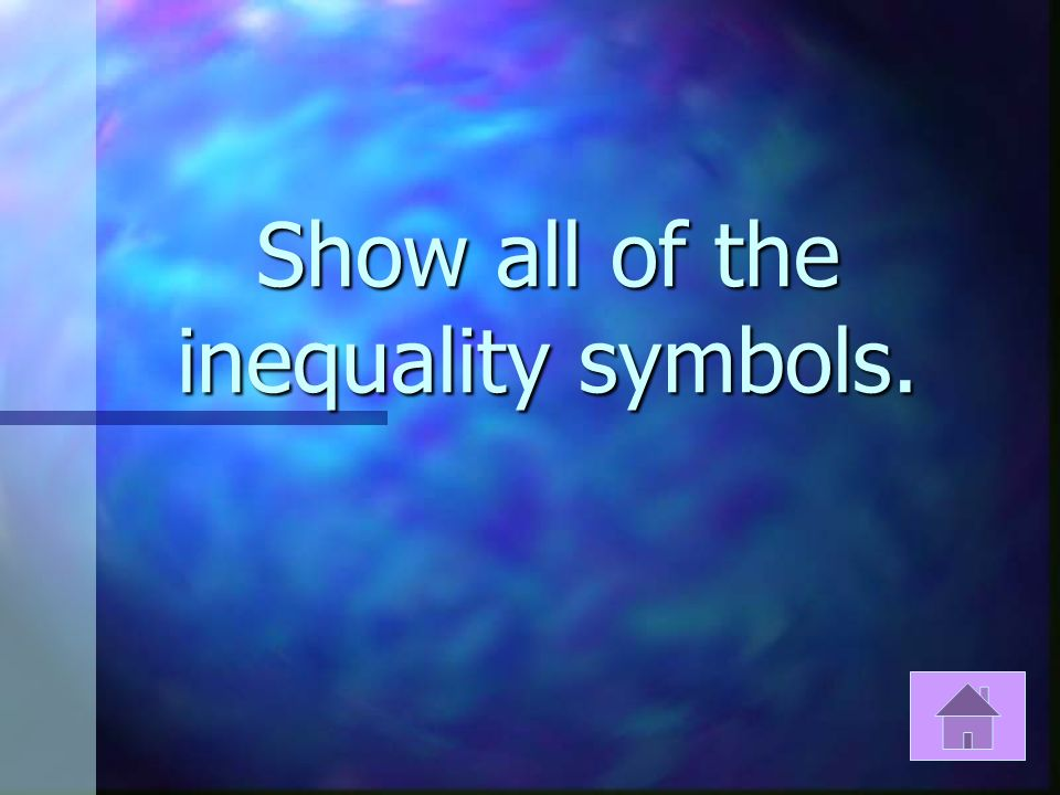 When naming an inequality symbol the variable is assumed to be located where?