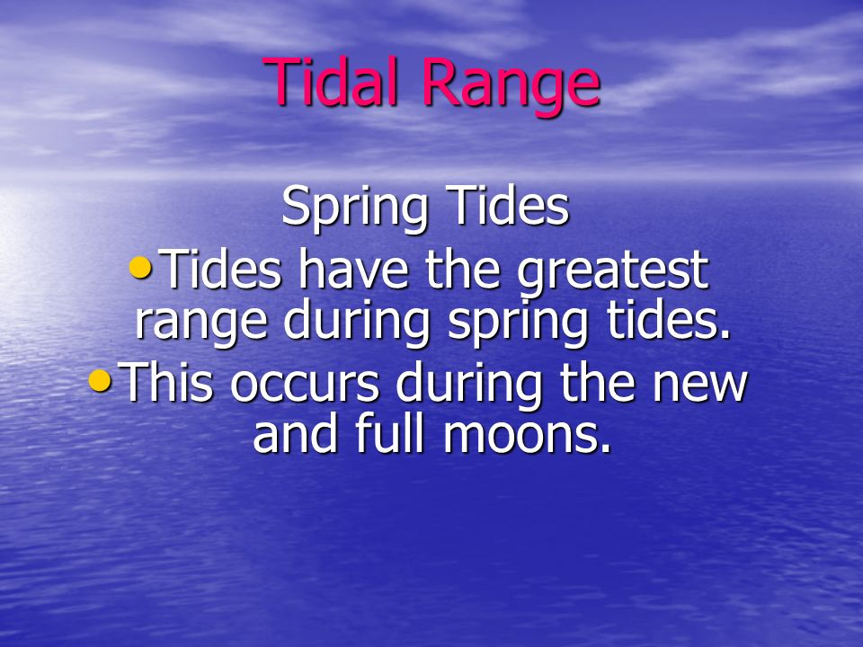 Tides tend to be high where the gravitational force between the earth and the moon are the strongest, along with the opposite side of the earth where the centrifugal force is strongest.