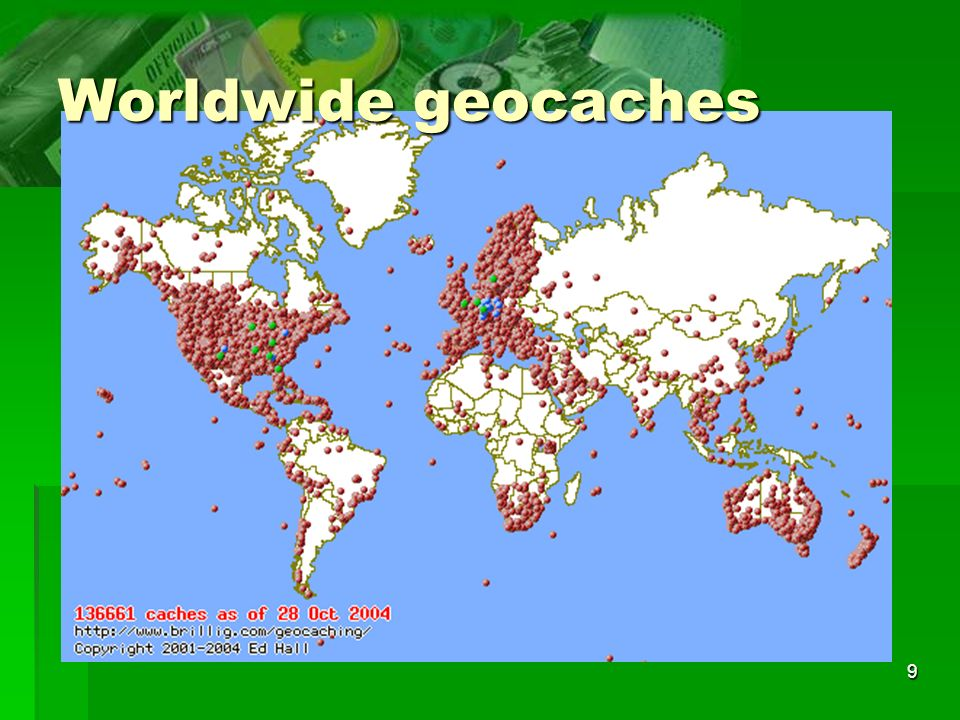 9 Worldwide geocaches