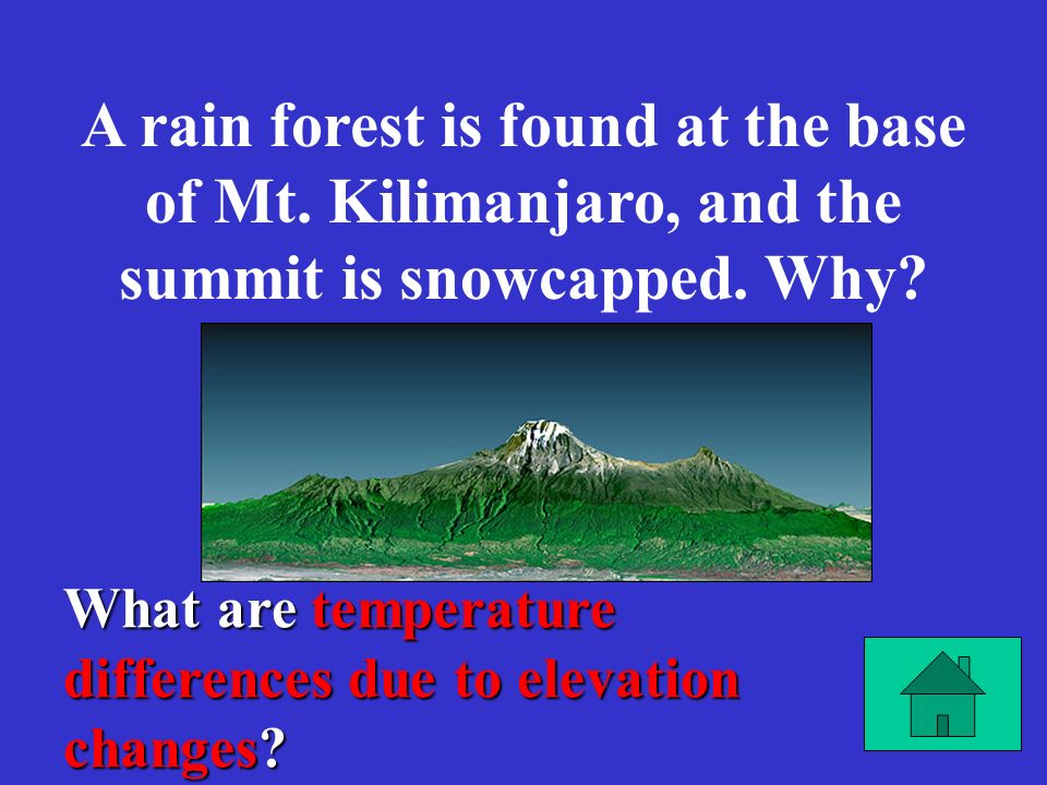 What are temperature differences due to elevation changes.