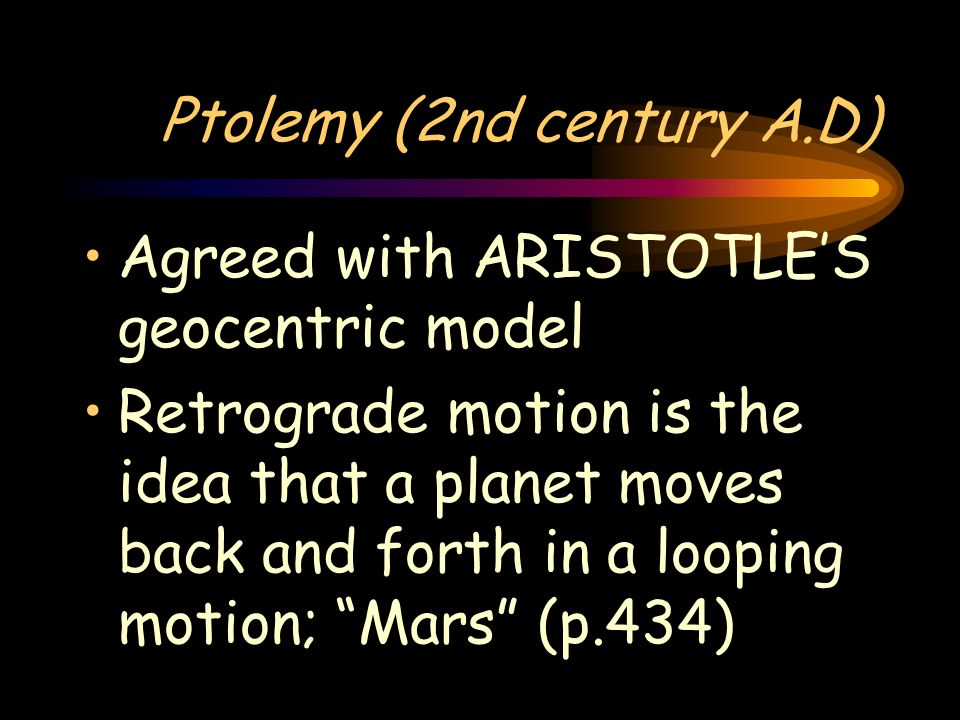 Questions What is the major difference between the universe models of Aristotle and Aristarchus? How is rotation different from revolution?