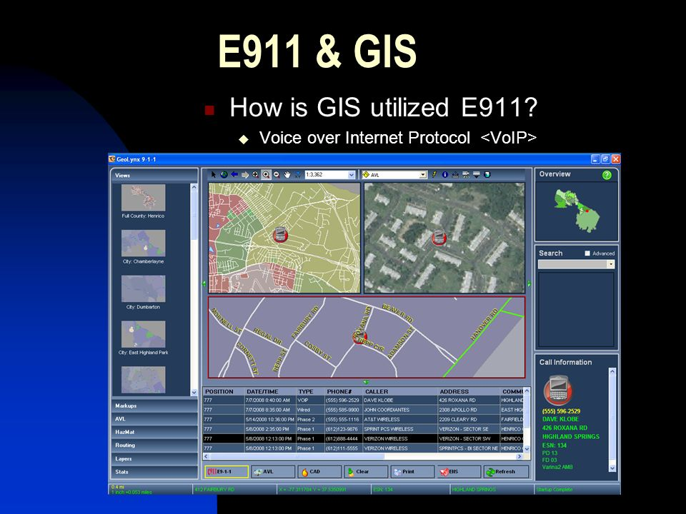 E911 & GIS How is GIS utilized E911 Wireless