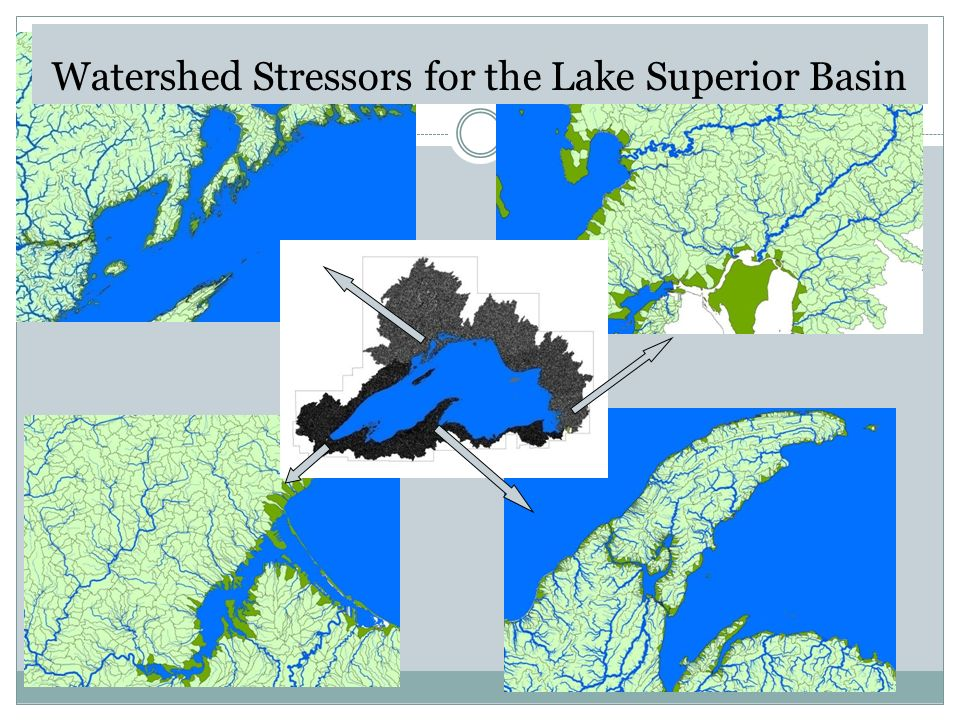 Watershed Stressors for the Lake Superior Basin