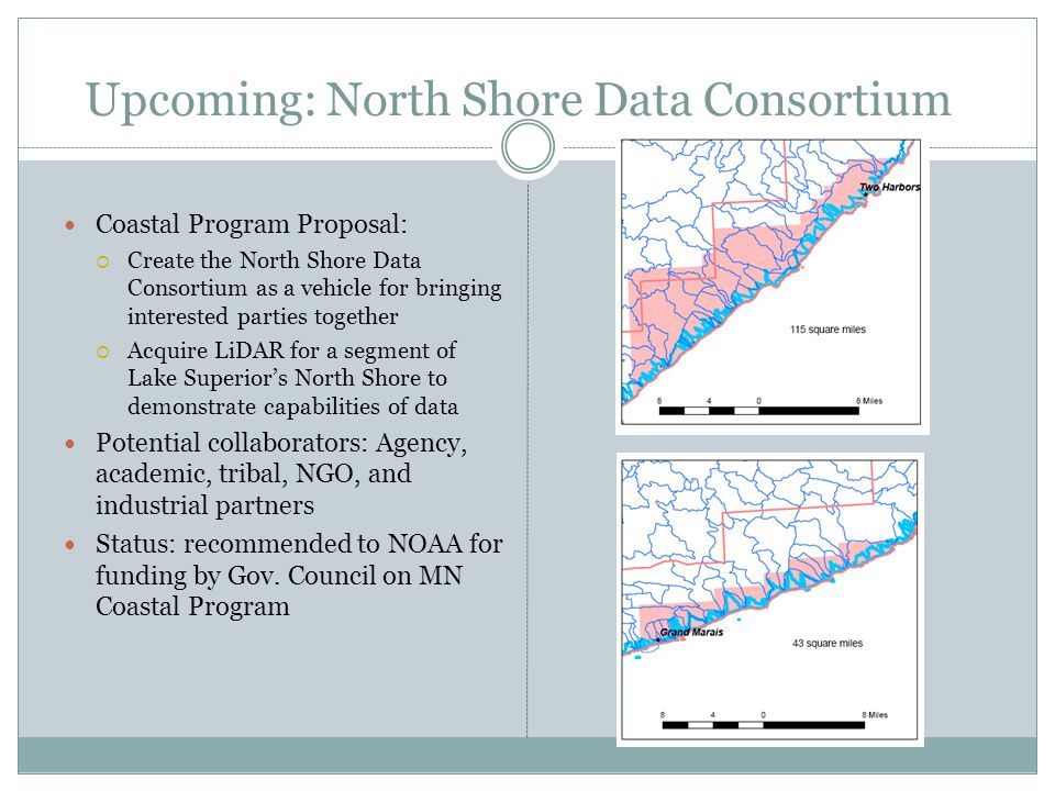Upcoming: North Shore Data Consortium Coastal Program Proposal: Create the North Shore Data Consortium as a vehicle for bringing interested parties to