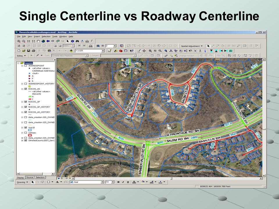 Single Centerline vs Roadway Centerline