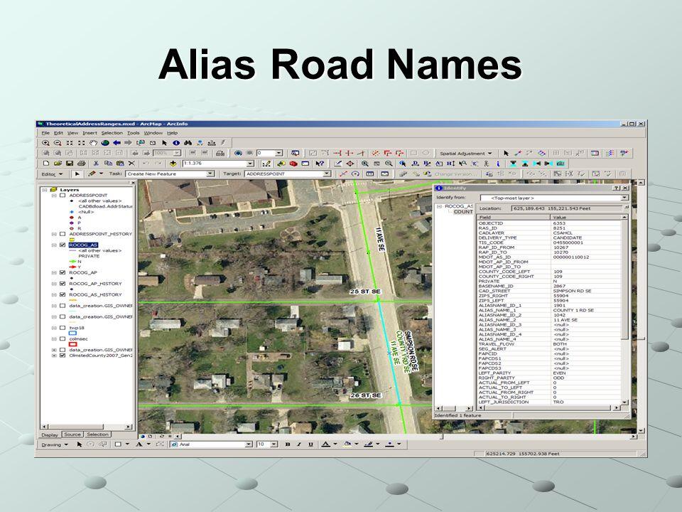 Alias Road Names