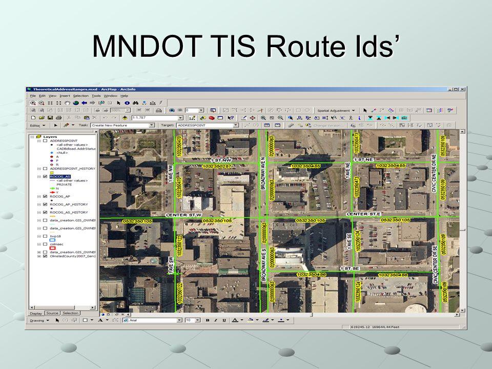 MNDOT TIS Route Ids
