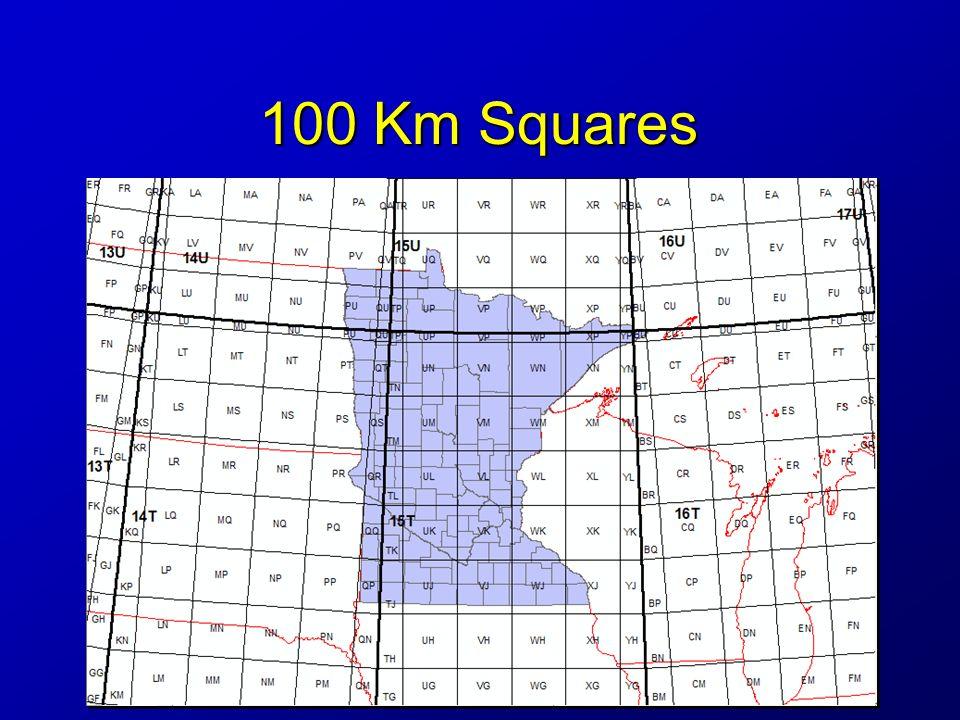100 Km Squares