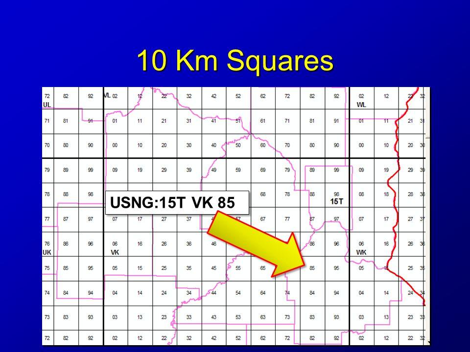 10 Km Squares USNG:15T VK 85