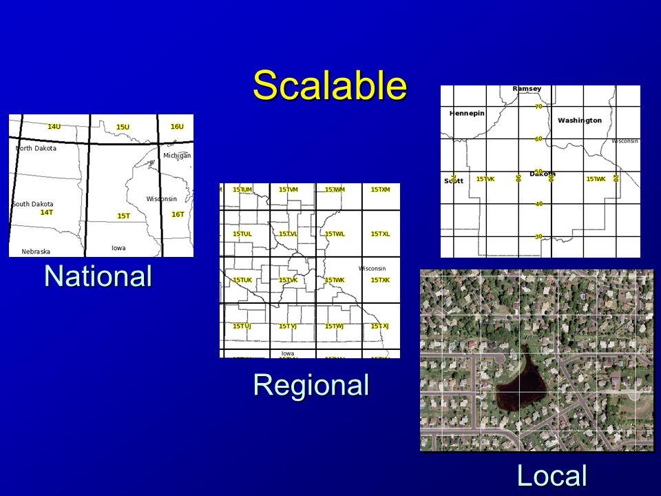 Precision and Truncation 18SUJ233710651918SUJ2337106519 –18S – UJ – 23371 – 06519 1 meter square, full USNG designation1 meter square, full USNG designation –UJ2306 Assume GZD (18S)Assume GZD (18S) UJ – 100,000 m squareUJ – 100,000 m square 23 06 – 1000 m (1 km) square23 06 – 1000 m (1 km) square –2337 0651 Assume GZD and 10 km squareAssume GZD and 10 km square