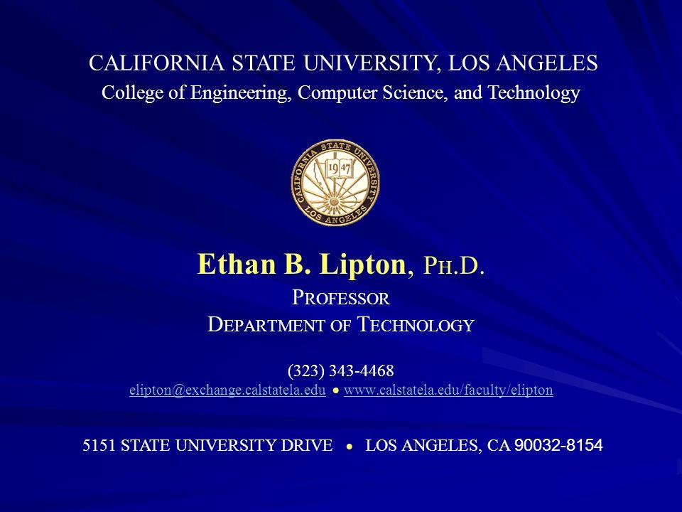 Ethan B. Lipton, P H. D.