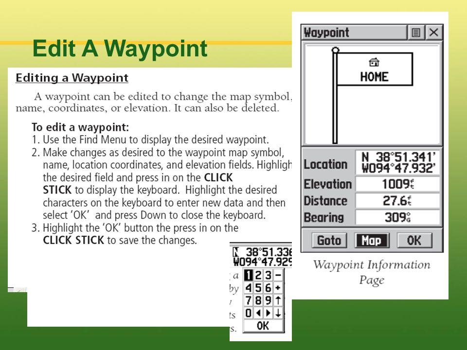 Edit A Waypoint