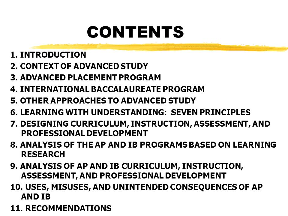 CONTENTS 1. INTRODUCTION 2. CONTEXT OF ADVANCED STUDY 3.