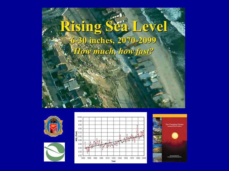 Rising Sea Level 6-30 inches, 2070-2099 How much, how fast