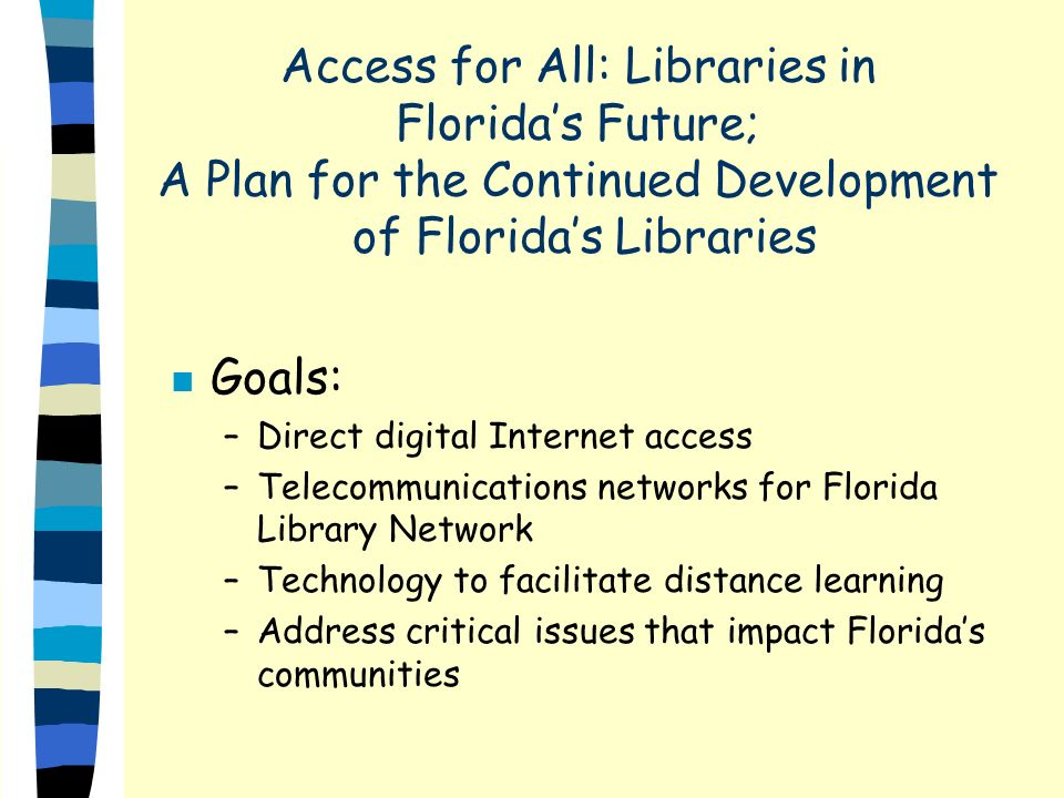 Additional Needs n State Library needs to know what other states are doing n Need ideas for support to libraries and how to make it better
