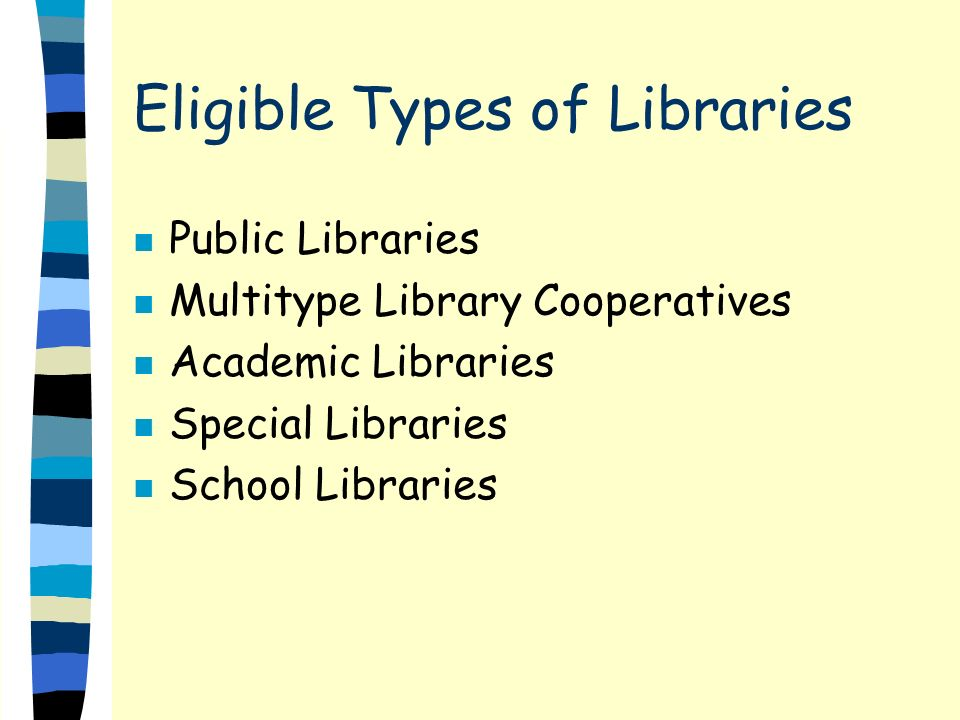 Categories for 20000 n Adult or Family Literacy n Born to Read n Library Services to Older Adults n FloriNet Connectivity n Library Automation n Linking Libraries