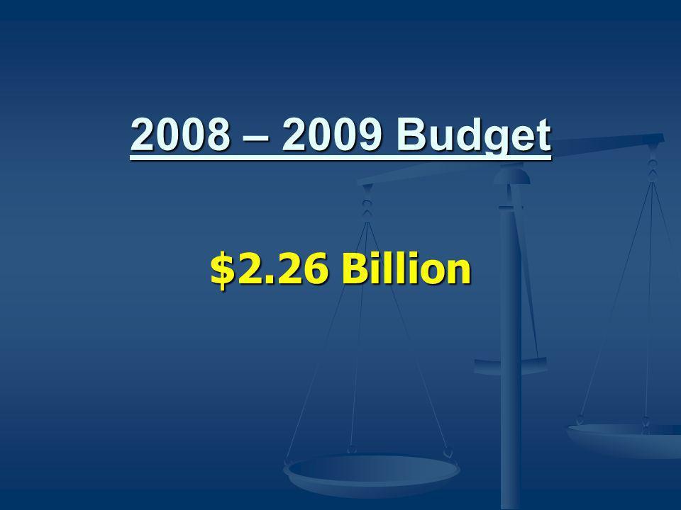 2008 – 2009 Budget $2.26 Billion