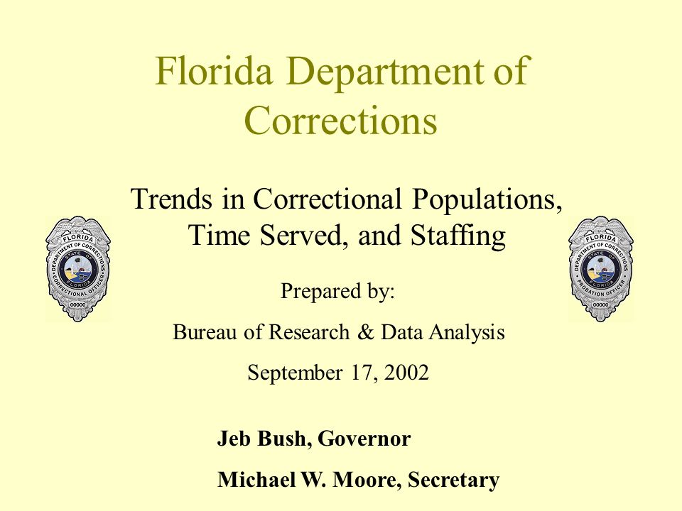 Percentage of Floridas Prison Population Sentenced Under Minimum 85% of Sentence Served Law As of June 30 Percentage of Prison Population Source: Florida Dept.