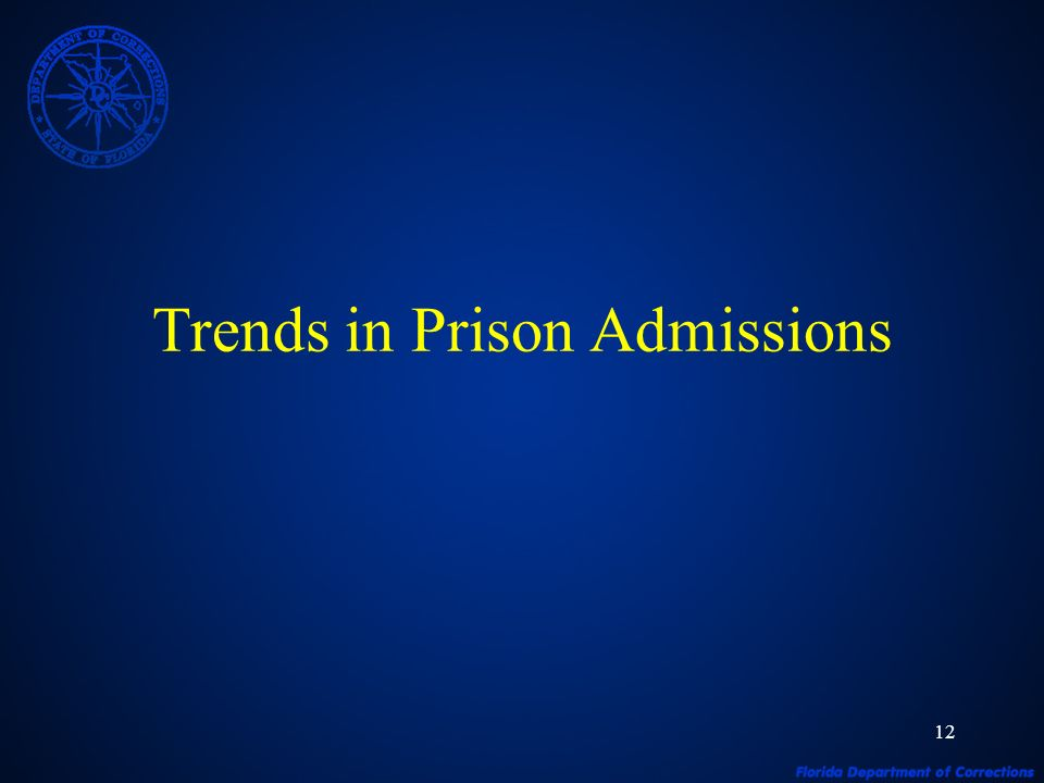 12 Trends in Prison Admissions