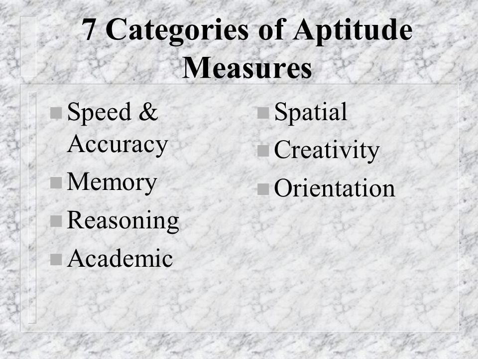 Scores within the 67%-99% range: n There is a likelihood that there is an ability to use this aptitude, and skills related to it, faster and with more ease than other students this age.