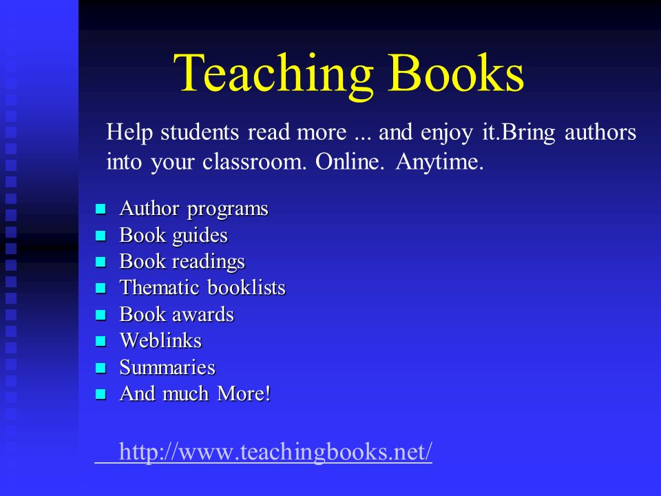 Help students read more... and enjoy it.Bring authors into your classroom. Online. Anytime. Author programs Author programs Book guides Book guides Bo