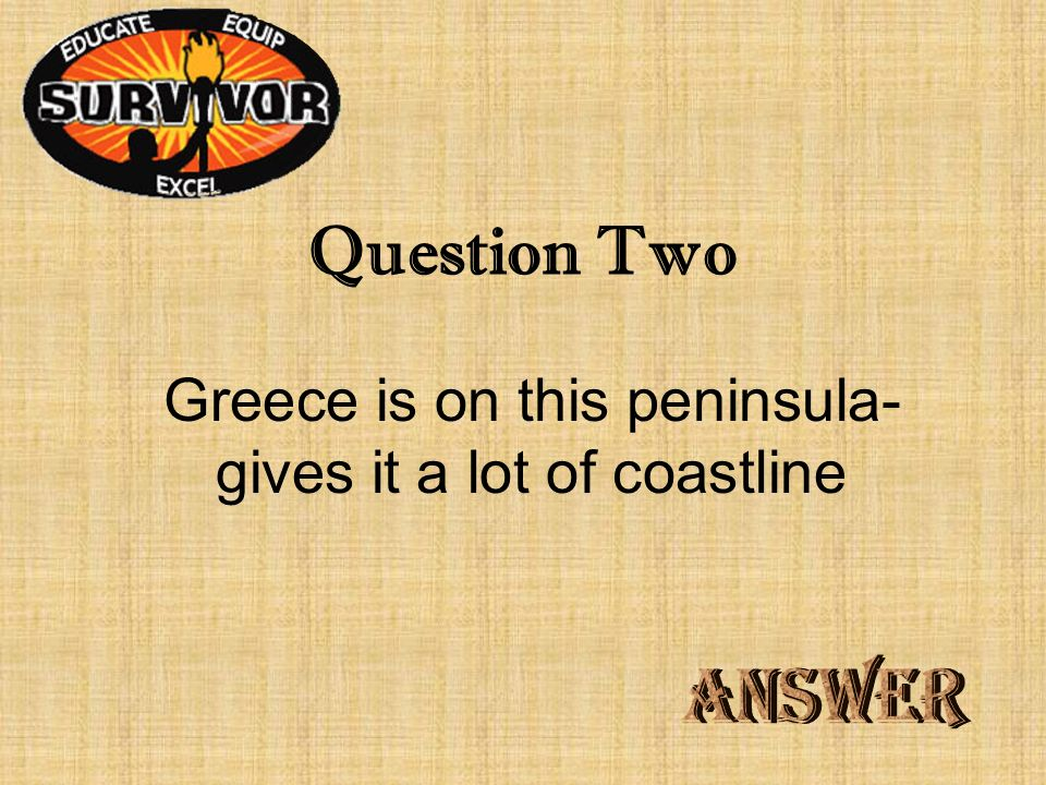 Challenge One What mountain peak is close to the ancient city of Pella and home to the original Olympics?