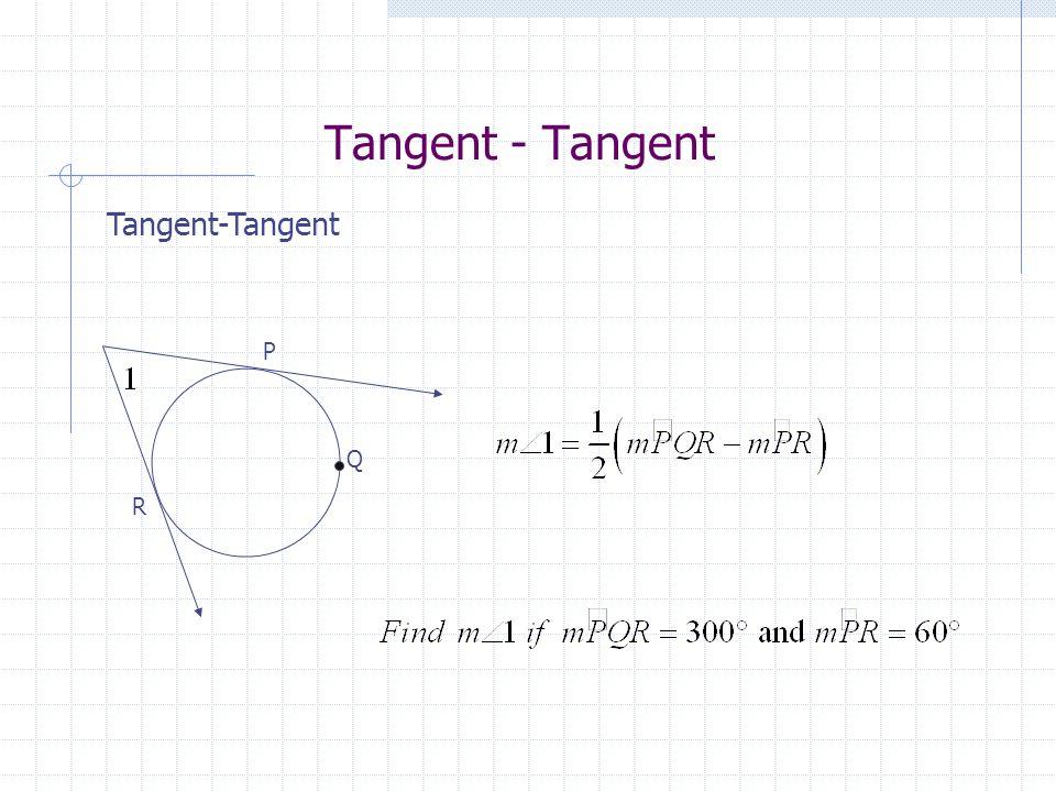 Tangent - Tangent Q P R
