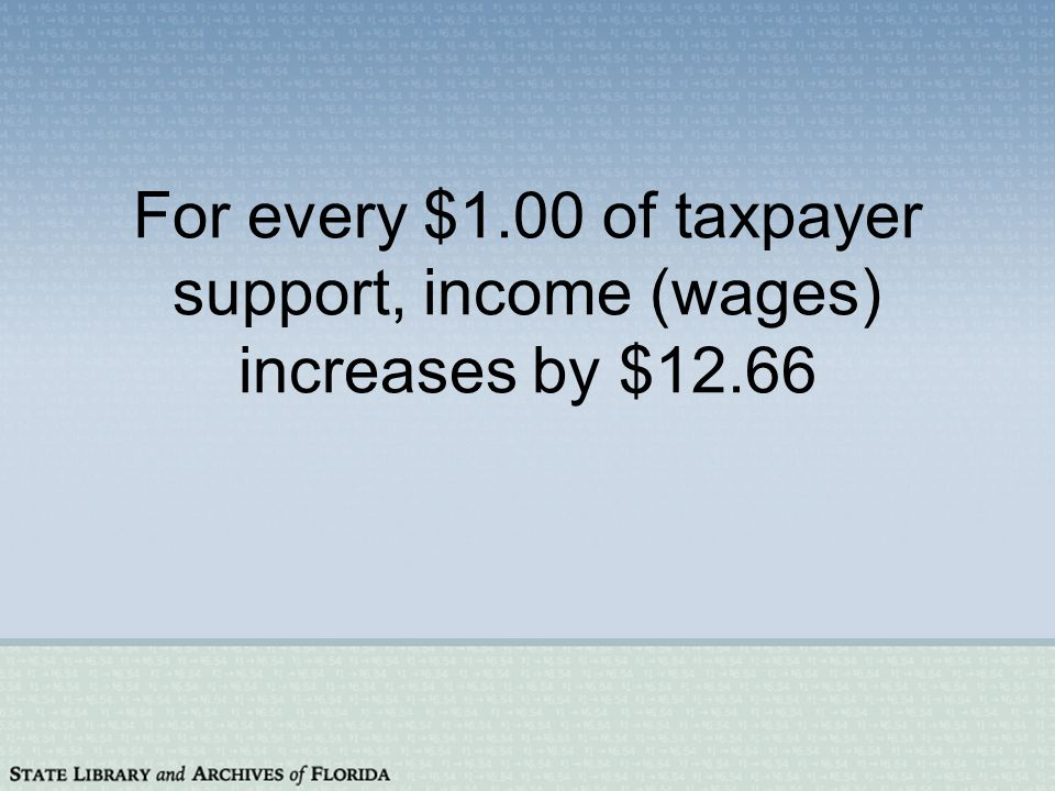 For every $1.00 of taxpayer support, gross regional product increases by $9.08