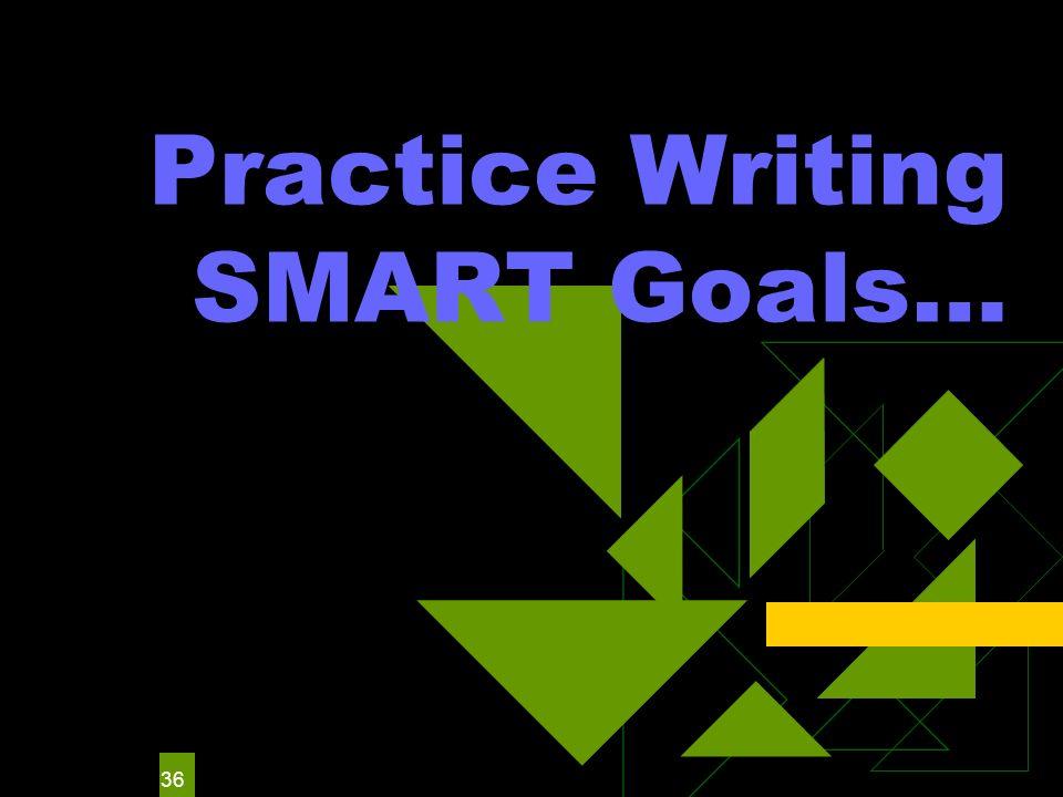 36 Practice Writing SMART Goals…