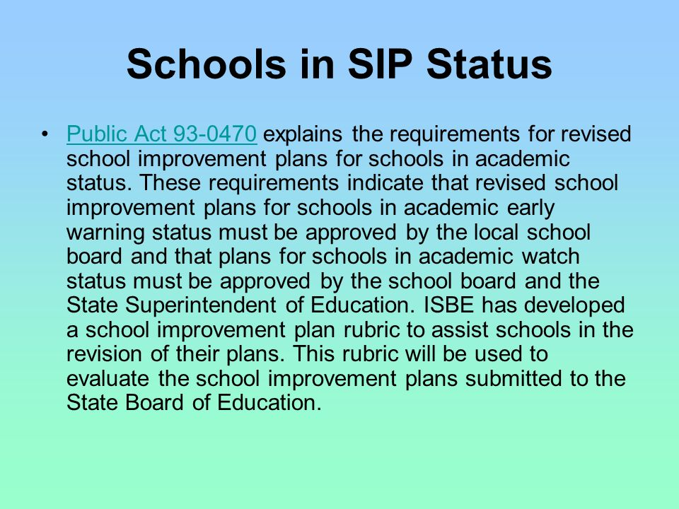 10.0 Review, Monitoring, and Revision Processes 10.1 District peer review process 10.2 Monitoring progress of the plan 10.3 Revision of the plan Discuss how you review, monitor, and revise the SIP.