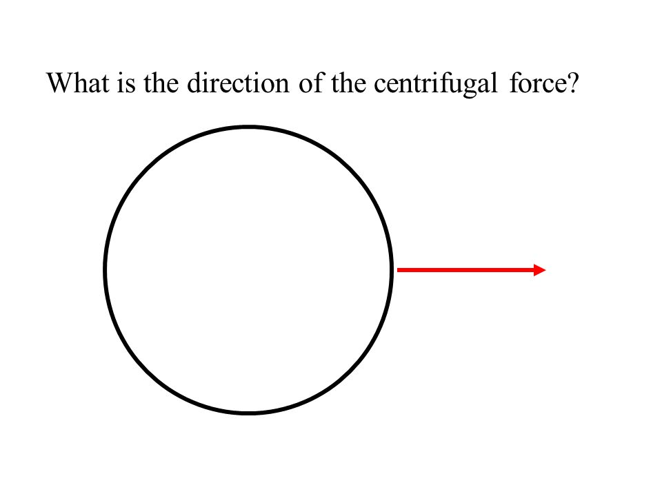 What is the direction of the centrifugal force?