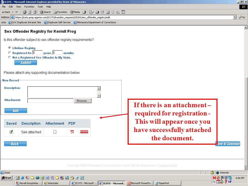1. When you select lifetime or specific registration, the attachment area will appear. 2. Click the browse button 3. Select the file and click open Se