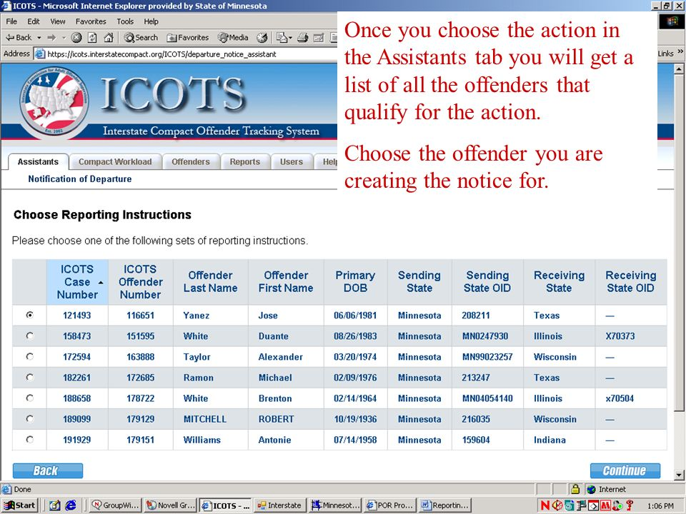 NODs & NOAs ICOTS will not activate a case prior to the completion of both the NOD and the NOA ICOTS will not allow a NOD to be sent until there has b