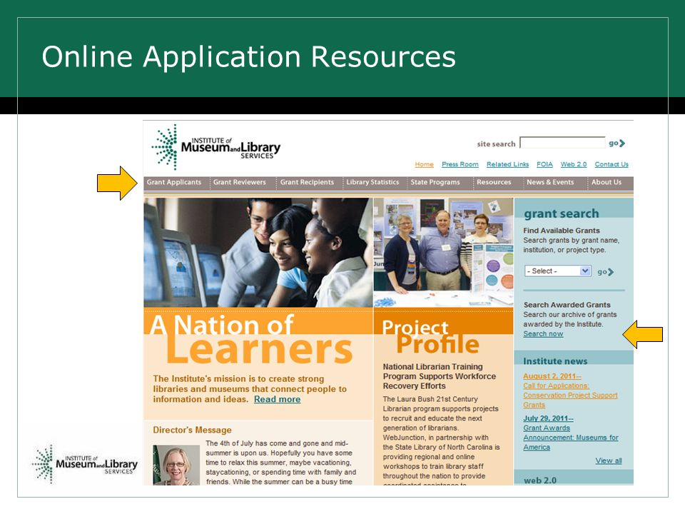 Online Application Resources