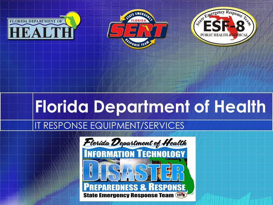 Florida Department of Health IT RESPONSE EQUIPMENT/SERVICES